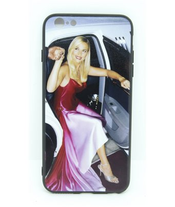 Cover bumper nera iPhone 6 Plus personalizzata